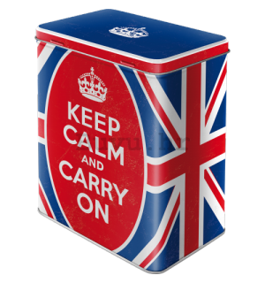 Metalna doza L - Keep Calm and Carry On