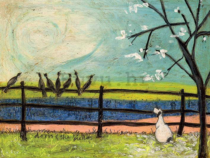 Slika na platnu - Sam Toft, Doris and the Birdies