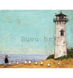 Slika na platnu - Sam Toft, Seven Sisters and a Lighthouse