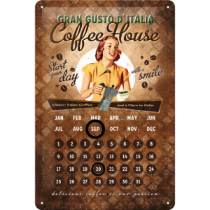 Metalna tabla - Coffee House (kalendar)