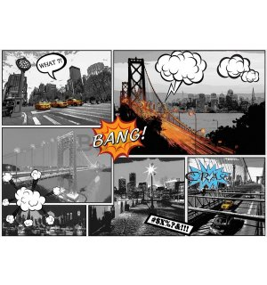 Foto tapeta Vlies: New York (Comics) - 254x368 cm