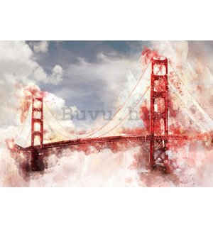 Foto tapeta: Golden Gate Bridge (oslikana) - 254x368 cm