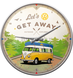 Retro sat - VW Bulli Let's Get Away
