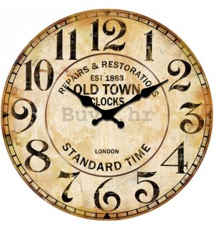 Zidni stakleni sat - Repair & Restorations (Old Town Clocks)