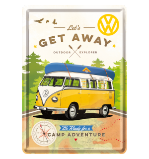 Metalna razglednica - VW Let's Get Away