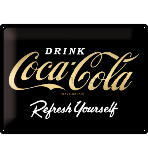 Metalna tabla: Coca-Cola Refresh Yourself (Special Black Edition) - 30x40 cm