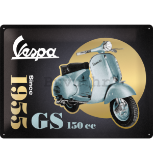 Metalna tabla: Vespa GS 150 Since 1955 (Special Black Edition) - 30x40 cm