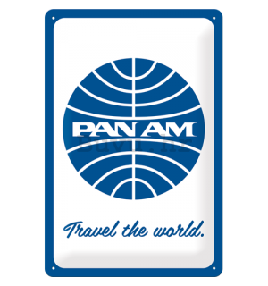 Metalna tabla: Pan Am (Travel the world) - 30x20 cm