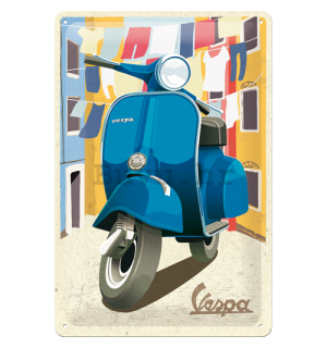 Metalna tabla: Vespa (Italian Laundry) - 30x20 cm