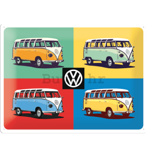 Metalna tabla: VW Bulli Pop Art (2) - 30x40 cm