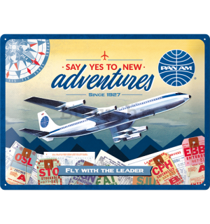 Metalna tabla: Pan Am (New Adventures) - 30x40 cm