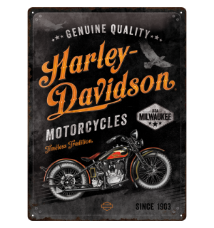 Metalna tabla: Harley-Davidson  (Timeless Tradition) - 40x30 cm