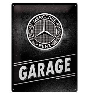 Metalna tabla: Mercedes-Benz Garage - 40x30 cm