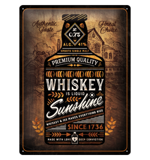 Metalna tabla: Whiskey Sunshine - 40x30 cm