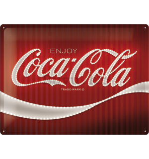 Metalna tabla: Coca-Cola (Red Lights Logo) - 30x40 cm