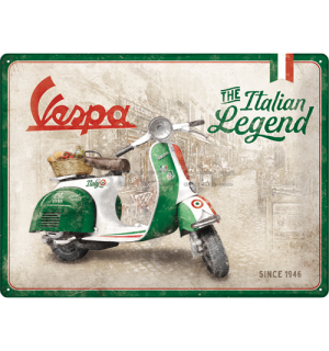 Metalna tabla: Vespa (The Italian Legend) - 30x40 cm