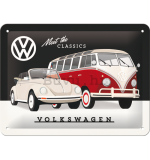 Metalna tabla: VW Meet The Classics - 15x20 cm