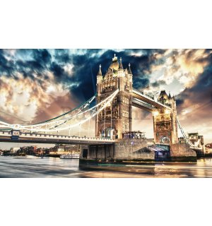 Vlies foto tapeta: Tower Bridge (3) - 416x254 cm