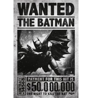 Poster - Batman Arkham (Wanted)