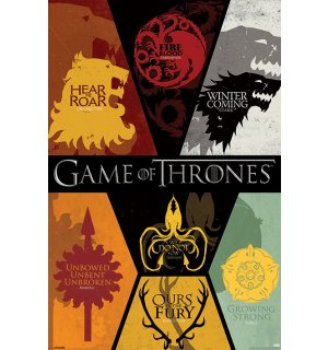 Poster - Game of Thrones (grbovi)