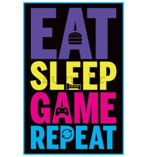 Poster - Eat, Sleep Game, Repeat