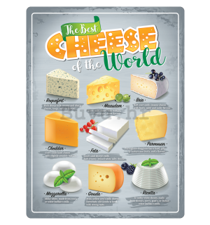 Metalna tabla: The Best Cheese of the World - 30x40 cm