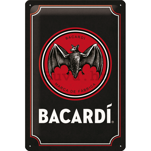 Metalna tabla: Bacardi (Black Logo) - 20x30 cm