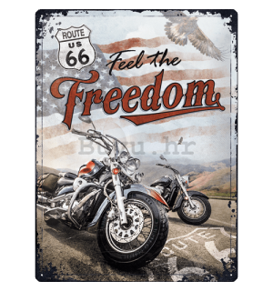 Metalna tabla: Route 66 (Freedom) - 30x40 cm