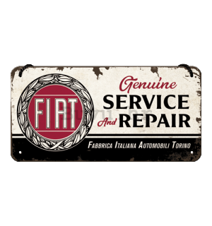 Metalna viseća tabla: Fiat Service & Repair - 20x10 cm