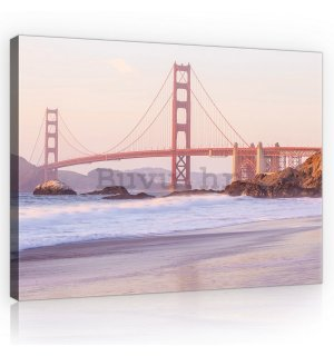 Slika na platnu: Golden Gate Bridge (4) - 75x100 cm