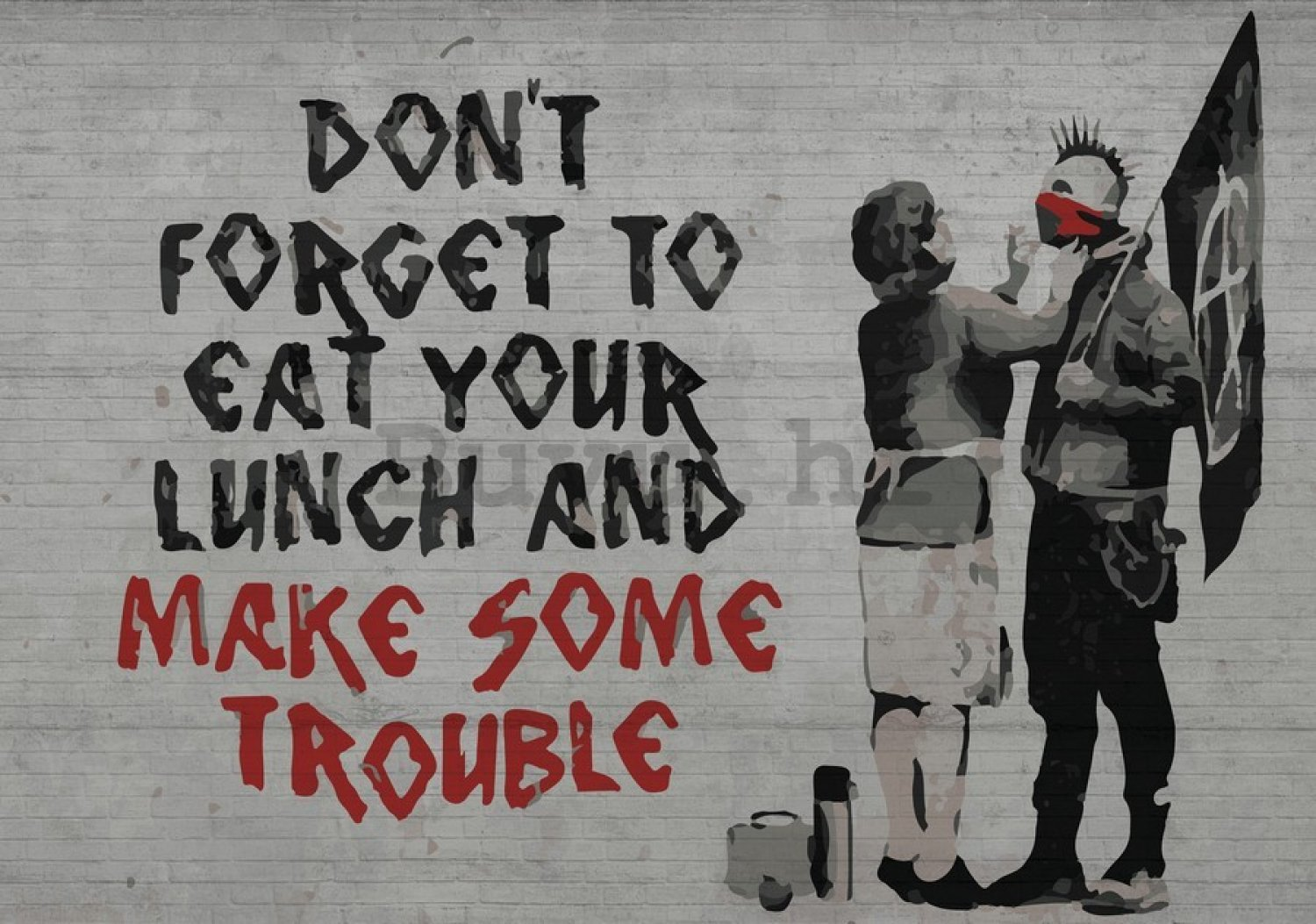 Slika na platnu: Dont Forget to Eat Your Lunch (graffiti) - 75x100 cm