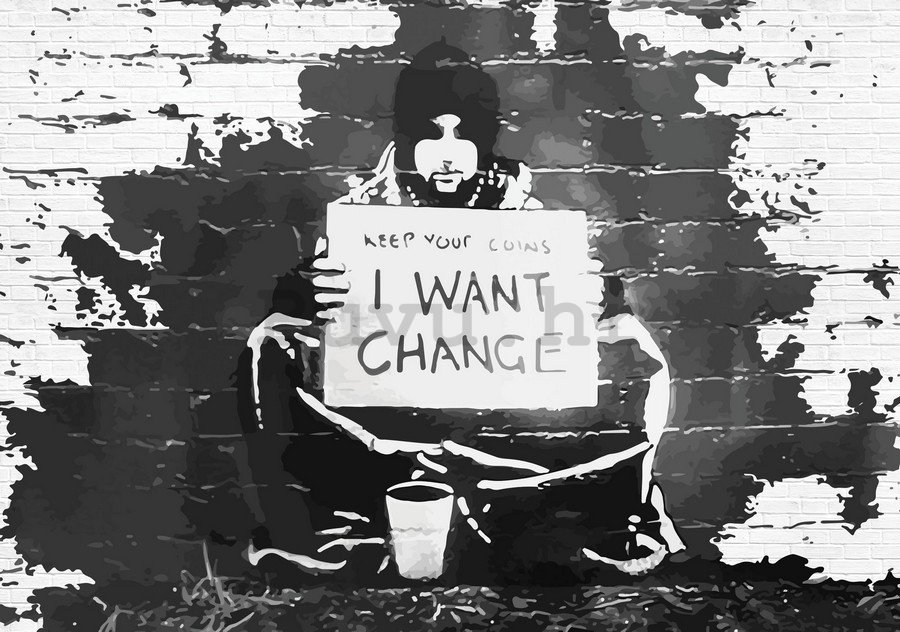 Slika na platnu: I Want Change (graffiti) - 75x100 cm
