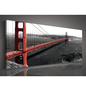 Slika na platnu: Golden Gate Bridge (1) - 145x45 cm