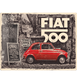 Metalna tabla: Fiat 500 (Retro) - 40x30 cm