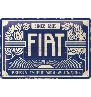Metalna tabla: Fiat Since 1899 (Blue Logo) - 30x20 cm