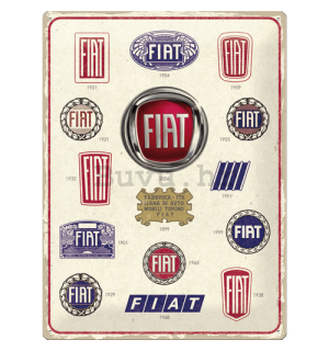 Metalna tabla: Fiat (Logo Evolution) - 40x30 cm