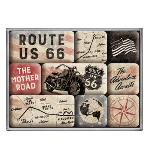 Set magneta - Route 66 Bike Map