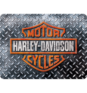 Metalna tabla: Harley-Davidson (Diamond Plate) - 20x15 cm