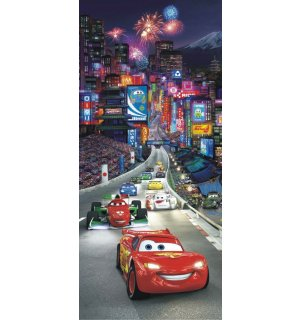 Foto tapeta Vlies: Cars night race - 90x202 cm