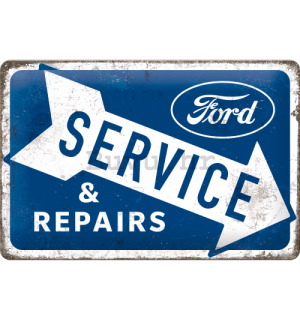 Metalna tabla: Ford (Service & Repairs) - 30x20 cm