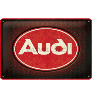 Metalna tabla: Audi Red Shine - 30x20 cm