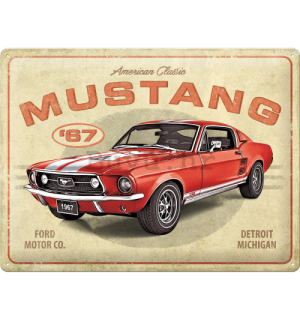 Metalna tabla: Ford Mustang GT 1967 Red - 40x30 cm