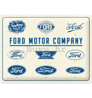 Metalna tabla: Ford Logo Evolution - 40x30 cm