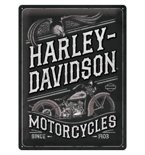 Metalna tabla: Harley-Davidson Motorcycles Eagle - 40x30 cm