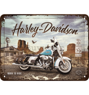 Metalna tabla: Harley-Davidson Route 66 Road King Classic - 20x15 cm