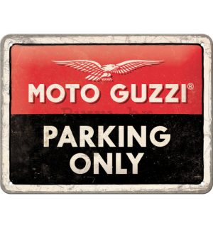 Metalna tabla: Moto Guzzi Parking Only - 20x15 cm