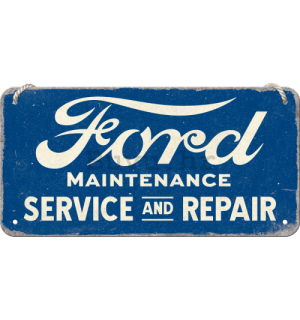 Metalna viseća tabla: Ford Service & Repair - 20x10 cm