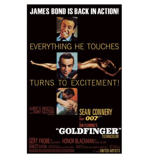 Poster - James Bond Goldfinger (excitment)