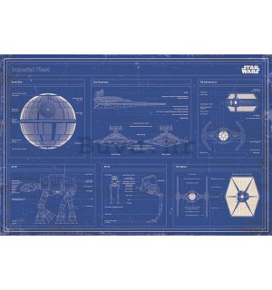 Poster - Star Wars Imperial Fleet Blueprint