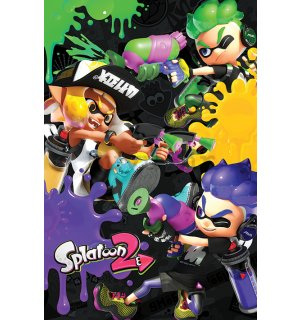 Poster - Splatoon 2 (3 Way Battle A)